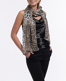 Vince Camuto Classic Leopard Skin Oblong Scarf