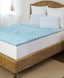 """Arctic Sleep Cool Gel 1.5"""" 5-Zone Memory Foam Topper Collection"""