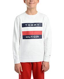 Tommy Hilfiger Big Boys Austin Fleece Logo Sweatshirt