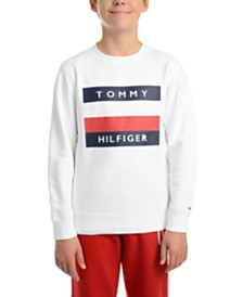 Tommy Hilfiger Big Boys Austin Fleece Logo Sweatshirt