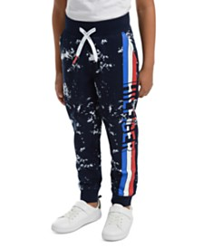 Tommy Hilfiger Little Boys Courtney Splatter-Print Fleece Sweatpants