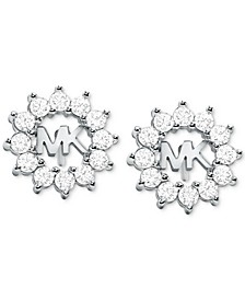 Crystal Logo Stud Earrings