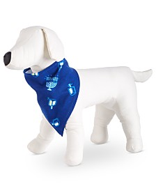 Matching Family Pajamas Let The Good Times Roll Hanukkah Pet Bandana, Created for Macy's