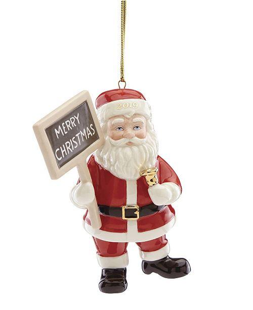 Lenox Christmas Ornaments.2019 Merry Christmas Santa Ornament