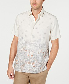 Men's Paisley Short Sleeve Silk Shirt, Created for Macy's
