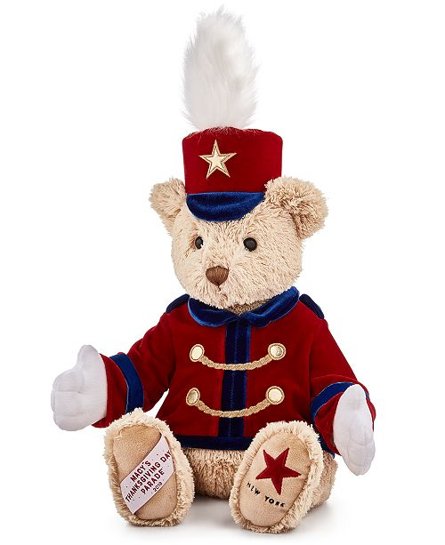 Macys 2020 Christmas Stuffed Animal Gund® Macy's Thanksgiving Parade Bandleader Bear, Created for