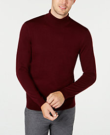 Tasso Elba Men's Merino Wool Blend Turtleneck Sweater, Created for Macy's