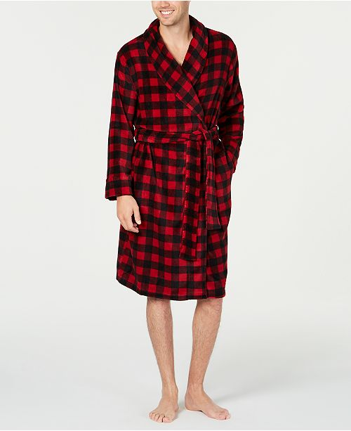 Club Room Men's Red Plaid Robe, Created for Macy's