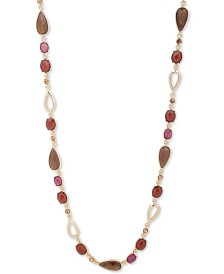 """Anne Klein Gold-Tone 42"""" Beaded Strand Necklace"""