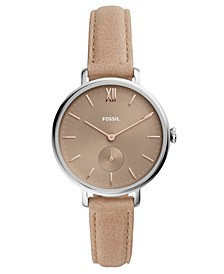 Women's Kayla Taupe Leather Strap Watch 36mm