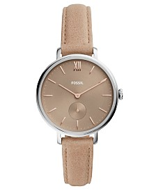 Fossil Women's Kayla Taupe Leather Strap Watch 36mm