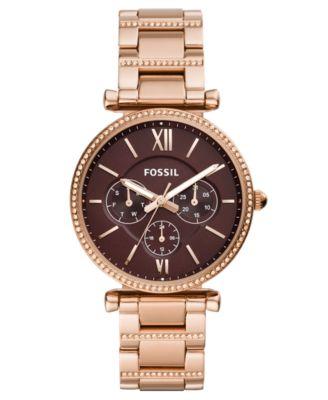 Women's Carlie Rose Gold-Tone Stainless Steel Bracelet Watch 38mm