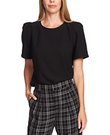 Vince Camuto Gathered Short-Sleeve Top