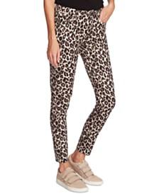 Vince Camuto Leopard-Print Skinny Jeans