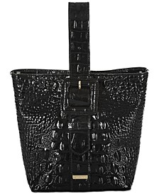 Faith Melbourne Embossed Leather Bucket Bag
