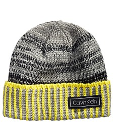 Calvin Klein Men's Color Impact Ombré Beanie & Scarf Set
