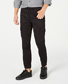 American Rag Men's Elastic Cargo Pants, Created for Macy's