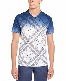 Men's Dip Dyed Patterned T-Shirt, Created for Macy's