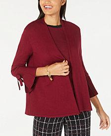 Alfani Tie-Sleeve Cardigan, Created for Macy's