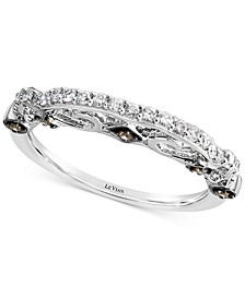 Accidental Bridal® Vanilla Diamond® (1/5 ct. t.w.) & Chocolate Diamond® Accent Band in 14k White Gold