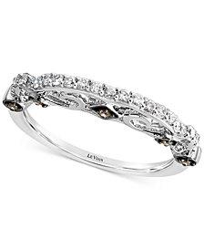 Le Vian Accidental Bridal® Vanilla Diamond® (1/5 ct. t.w.) & Chocolate Diamond® Accent Band in 14k White Gold