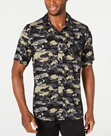 American Rag Men's Cloudy Camo Shirt, Created for Macy's