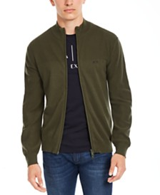 A|X Armani Exchange Men's Zip-Front Cardigan