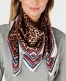 Prairie Leopard Silk Square Scarf