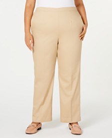Alfred Dunner Plus Size Street Smart Pull-On Straight-Leg Pants
