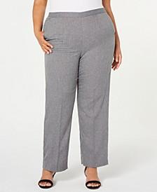 Plus Size Boardroom Pull-On Straight-Leg Pants