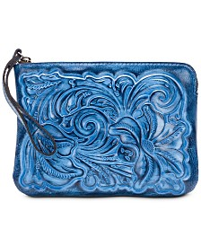 Patricia Nash Burnished Tooled Cassini Wristlet