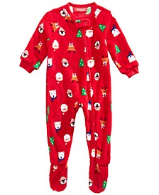 Matching Baby Santa and Friends Footed Pajamas, Created for Macy's