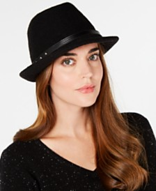 I.N.C. Packable Wool Fedora, Created for Macy's