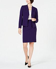 Le Suit Wing-Collar Skirt Suit