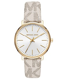 Women's Pyper Vanilla Logo Leather Strap Watch 38mm