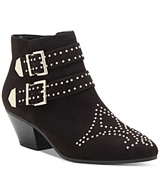 INC Iliana Studded Western Ankle Booties, Created for Macy's