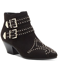 I.N.C. Iliana Studded Western Ankle Booties, Created for Macy's