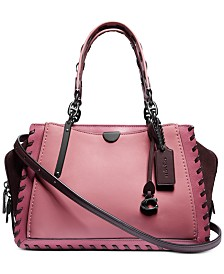 COACH Whipstitch Colorblock Dreamer Leather Satchel