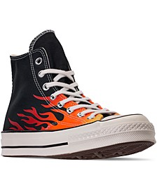 Men's Chuck Taylor 70 Flame High Top Casual Sneakers from Finish Line