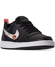 Nike Girls Court Borough Low Vintage Floral Casual Sneakers from Finish Line
