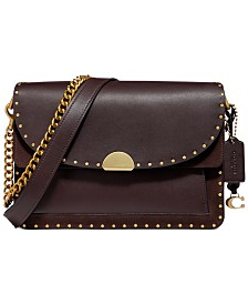 COACH Mixed Leather Dreamer Shoulder Bag
