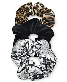 I.N.C. 3-Pc. Animal-Print Scrunchie Set, Created for Macy's