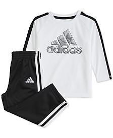 adidas Baby Boys 2-Pc. Top & Jogger Pants Set