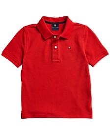 Tommy Hilfiger Adaptive Little Boys Tommy Knit Polo Shirt with Magnetic Buttons