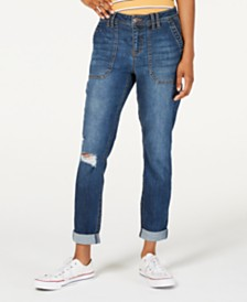 Vanilla Star Ripped Cuffed Jeans