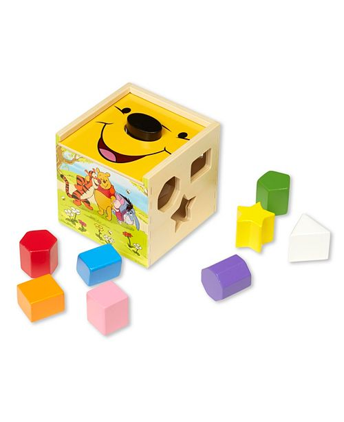Melissa and Doug Winnie the Pooh Wooden Shape Sorting Cube