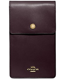 COACH Snap Phone Leather Crossbody