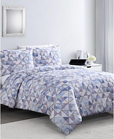Sky Geo 3-Pc. Full/Queen Duvet Cover Set