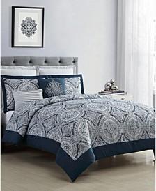 Yorkshire Jacquard 7-Pc. Queen Comforter Set