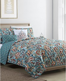 Cadica 4PC Twin XL Quilt Set